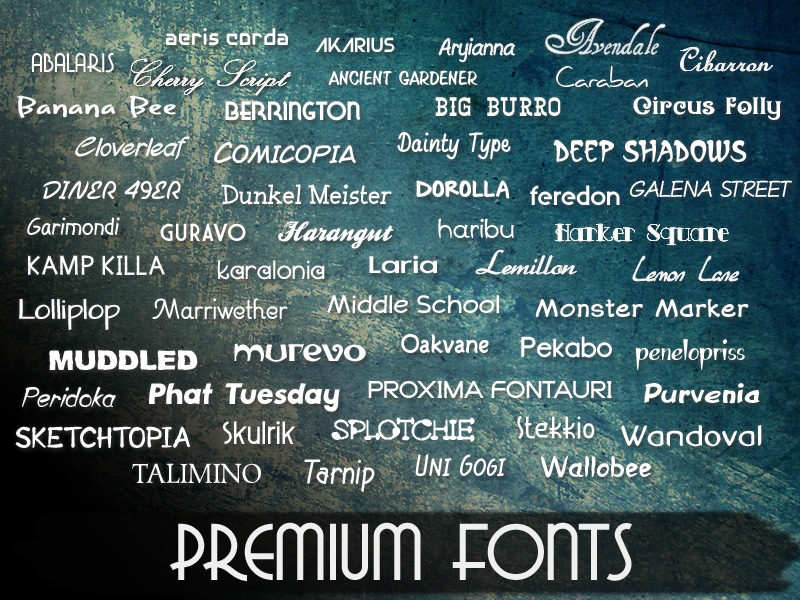 Premium commercial use fonts from 128bit Technologies